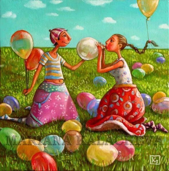Коллекция работ художницы Mariana Kalacheva