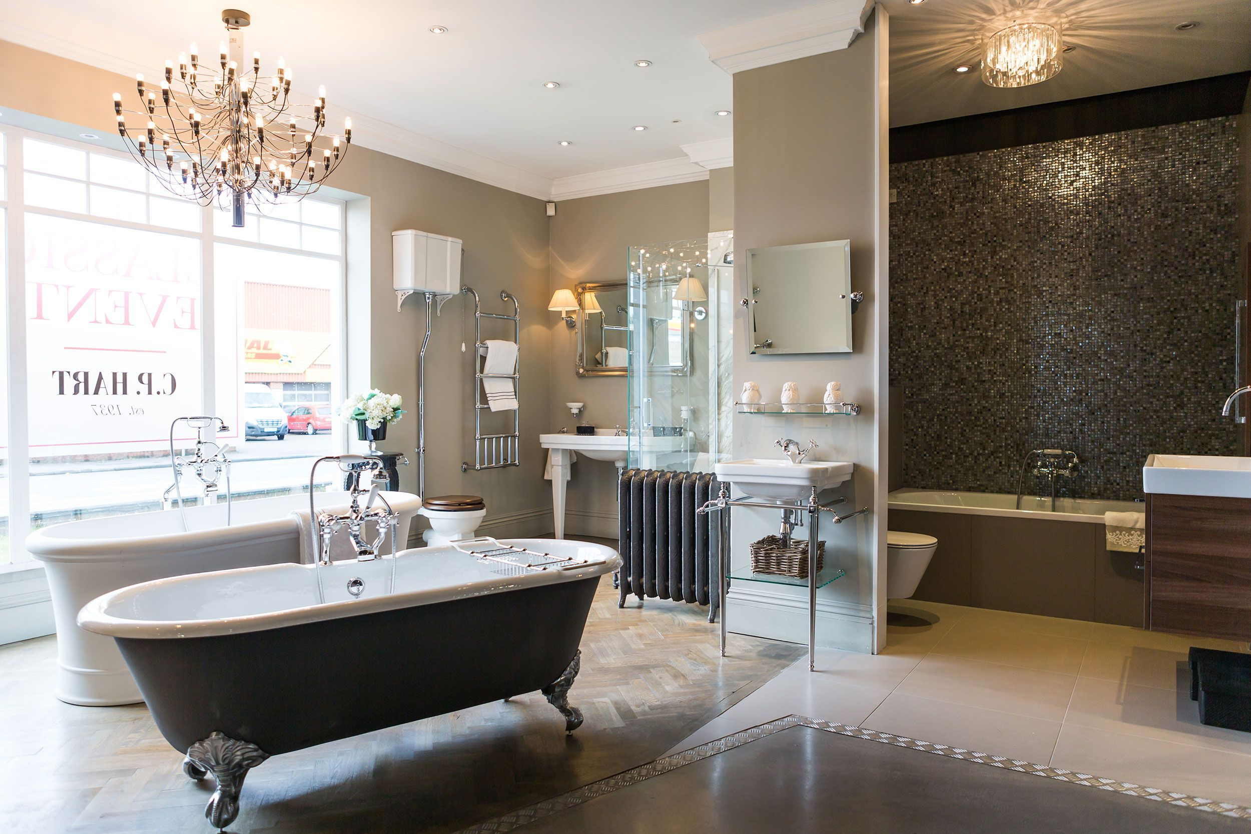 Our Traditional Winchester Bath Is On Display At Our Guildford Showroom Bathroomdesignguildfor Modern Bathroom Design Modern Bathroom Faucets Bathroom Design