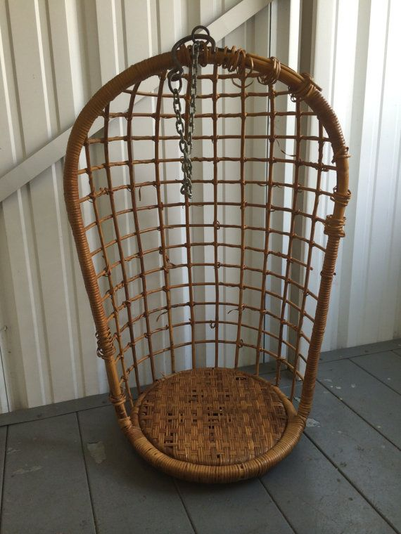 Wicker Egg Chair Rattan Egg Chair Vintage Hanging By Irmaexotic