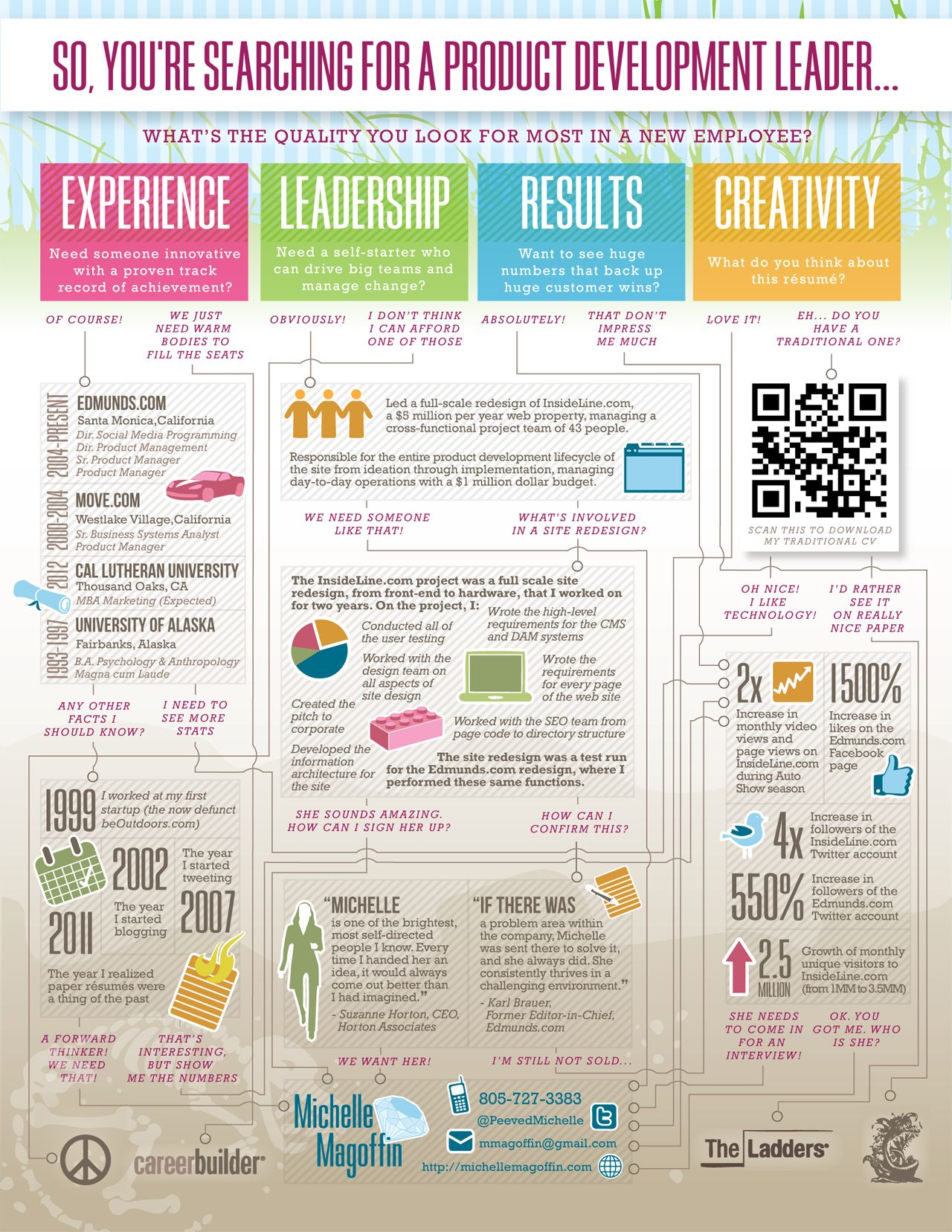 amazing visual resume example