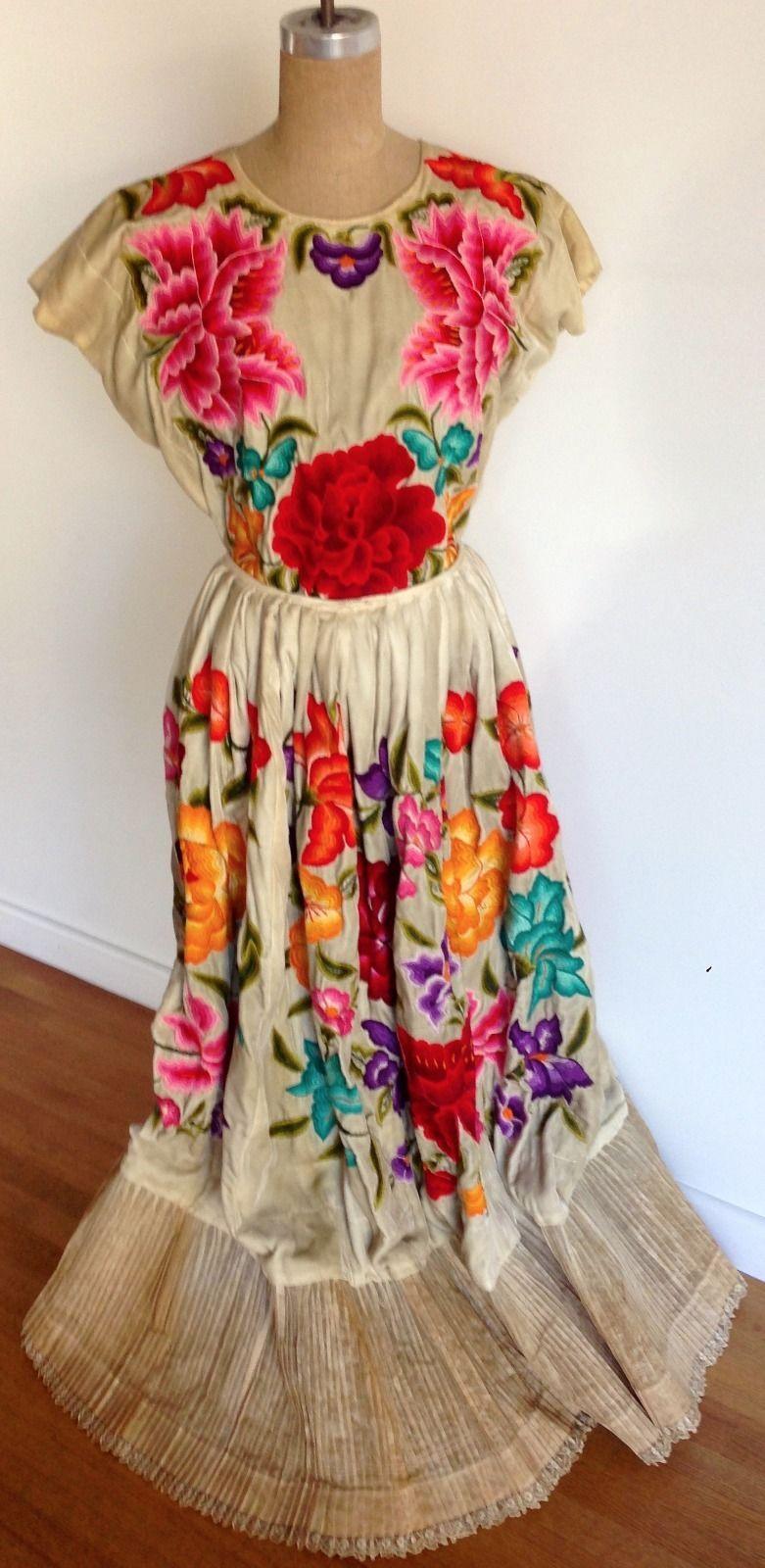 Very RARE Heirloom Vintage Silk Velvet Oaxacan Huipil