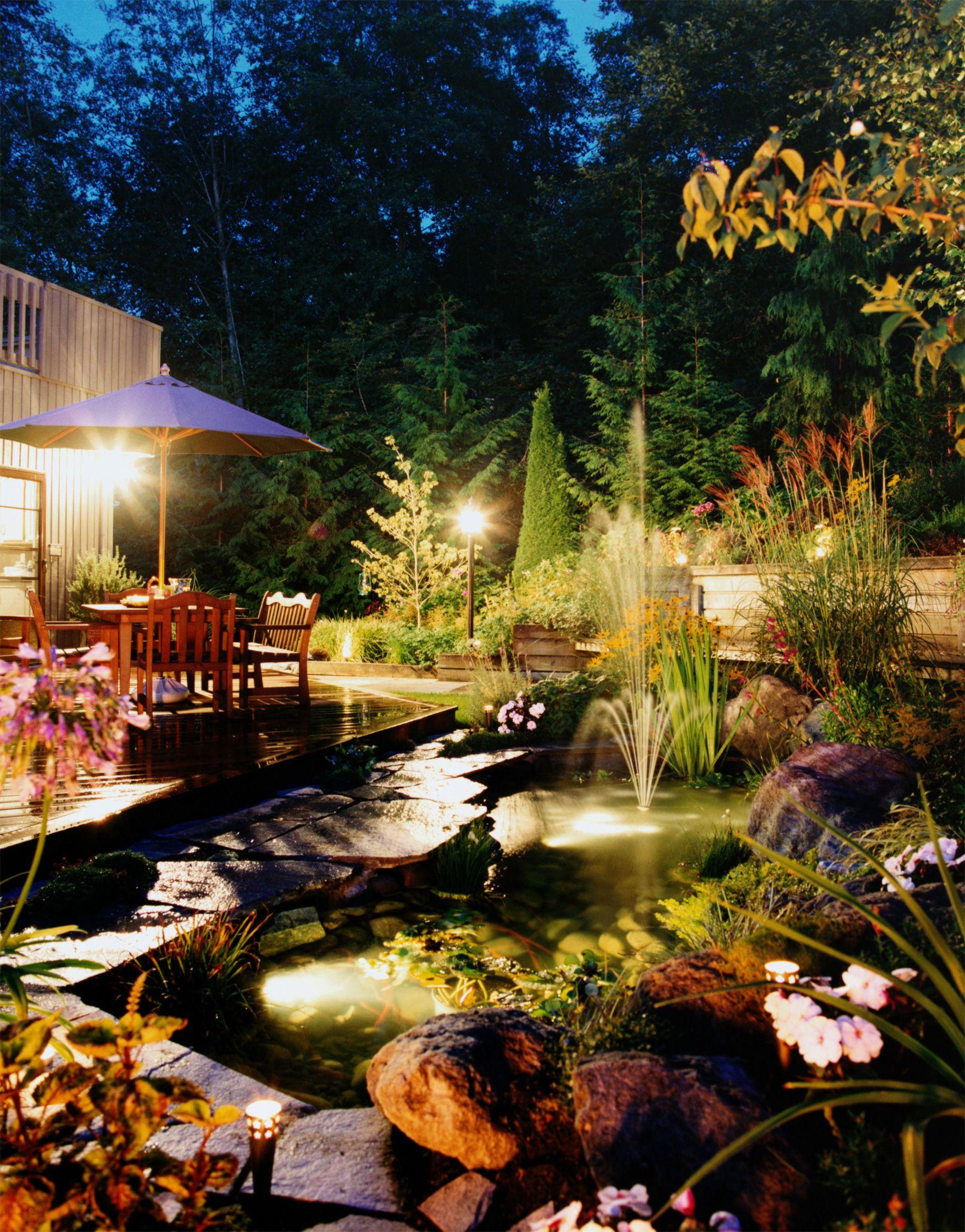 A delightful evening backyard pond scene smartpond pond pond a delightful evening backyard pond scene smartpond pond mozeypictures Images