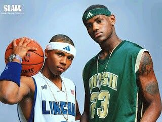 Sebastian Telfair and Lebron James