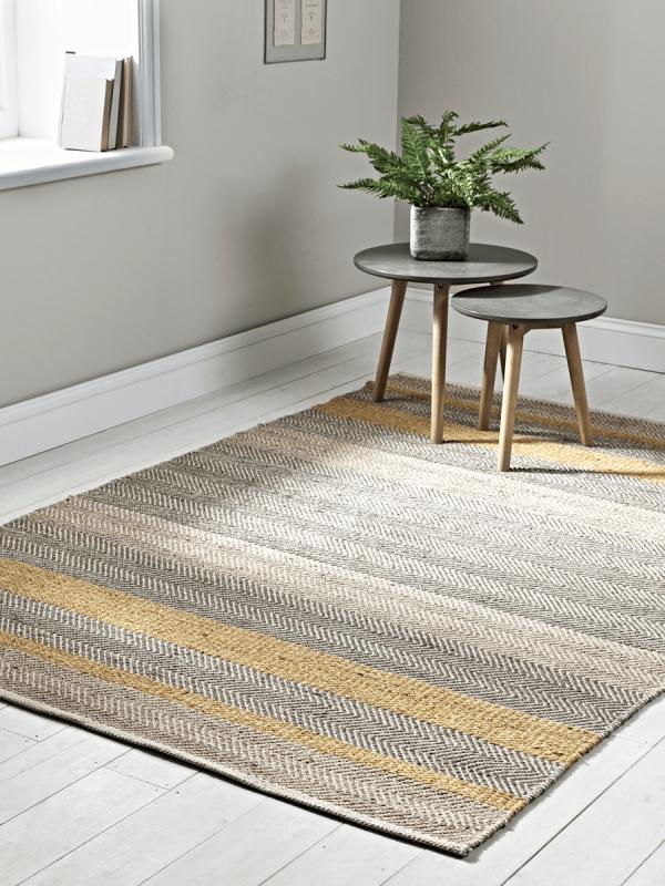 Flatweave Stripe Rug Mustard Contemporary Rugs Rugs Uk Rugs On Carpet