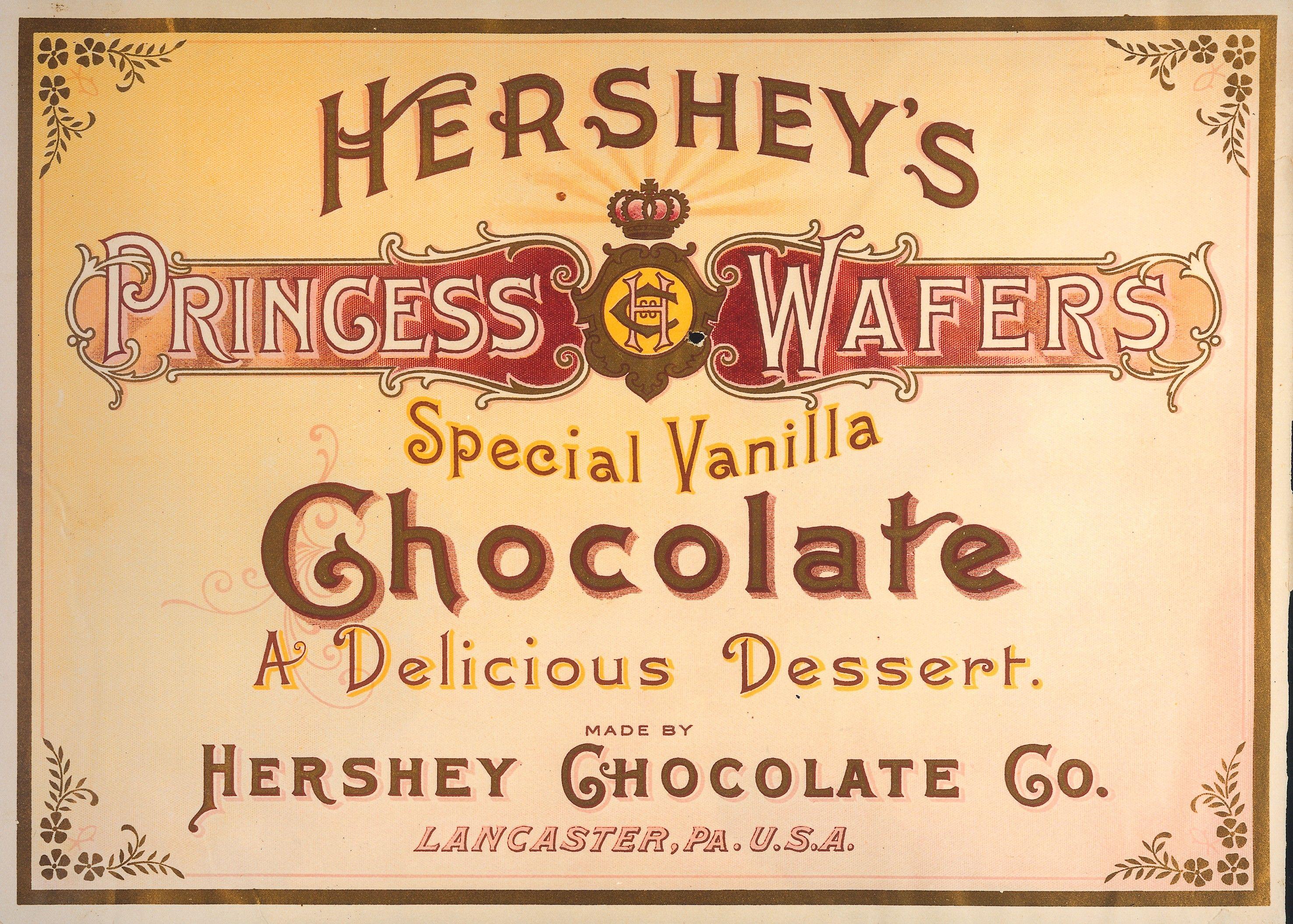 Hershey label, c. 1900 Vintage bakery, Candy logo
