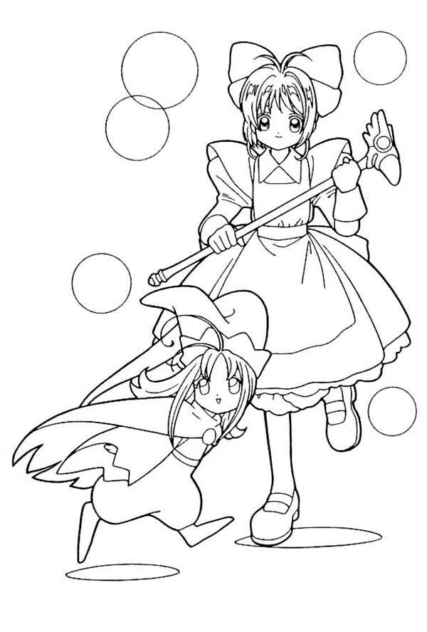 How To Draw Cardcaptor Sakura Coloring Page Coloring Sun