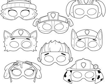 This Listing Is For (7) Printable Pony Black And White Mask JPG Files That  Are In A ZIP U0026 PDF! All Masks Are Ready To Be Printed, Cut, And Colored In!