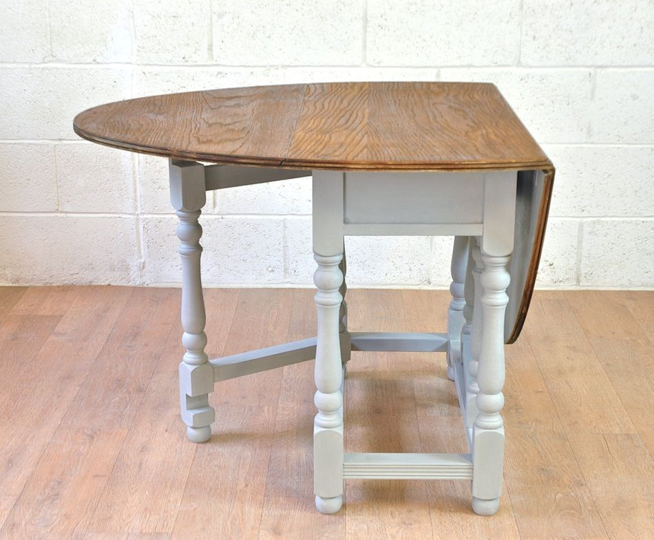 Old Charm Oak Drop Leaf Gate Leg Dining Table Ergonomic Folding