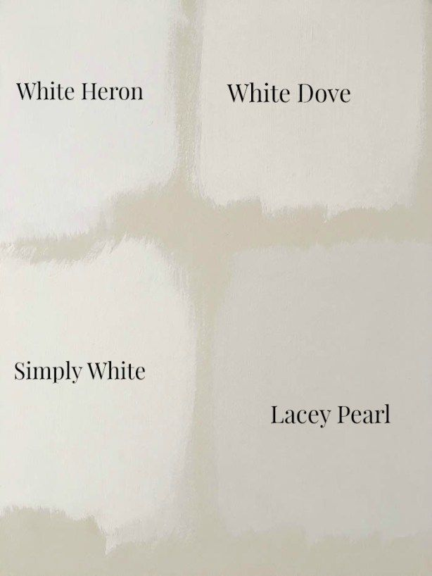 Comparing Diffe Shades Of Benjamin Moore S Most Por Whites How To Pick A White Paint Color Rooms For Blog