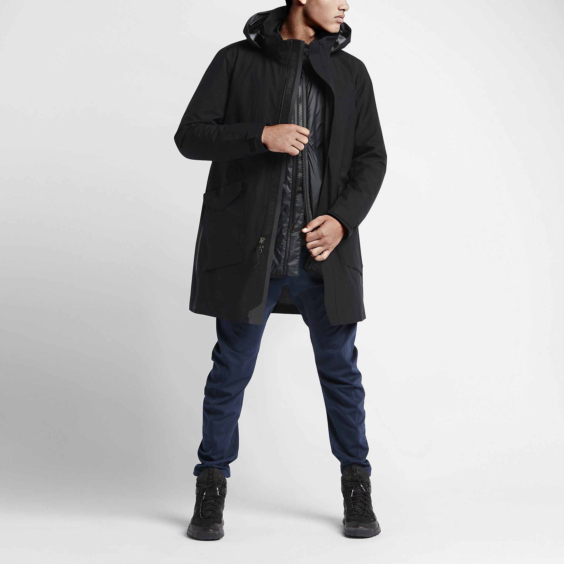 NIKELAB ACG SYSTEM TRENCH | Long bomber jacket, Outdoor