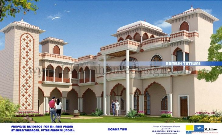 Heritage Haveli Design Amethi Architecture Design Portfolio Mansion Designs Village House Design Architecture Portfolio Design