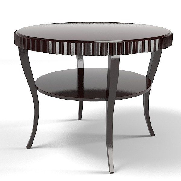 Baker Barbara Barry Fluted Table 3465 Modern Model Available On Turbo  Squid, The Worldu0027s Leading Provider Of Digital Models For Visualization,  Films, ...