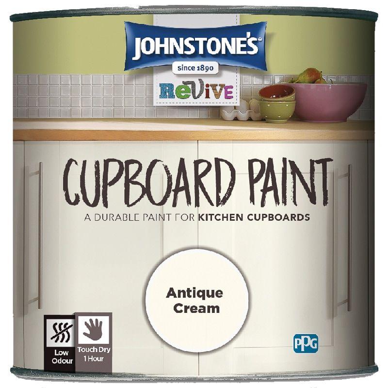 Best Johnstone S Revive Cupboard Paint 750Ml Antique Cream 400 x 300