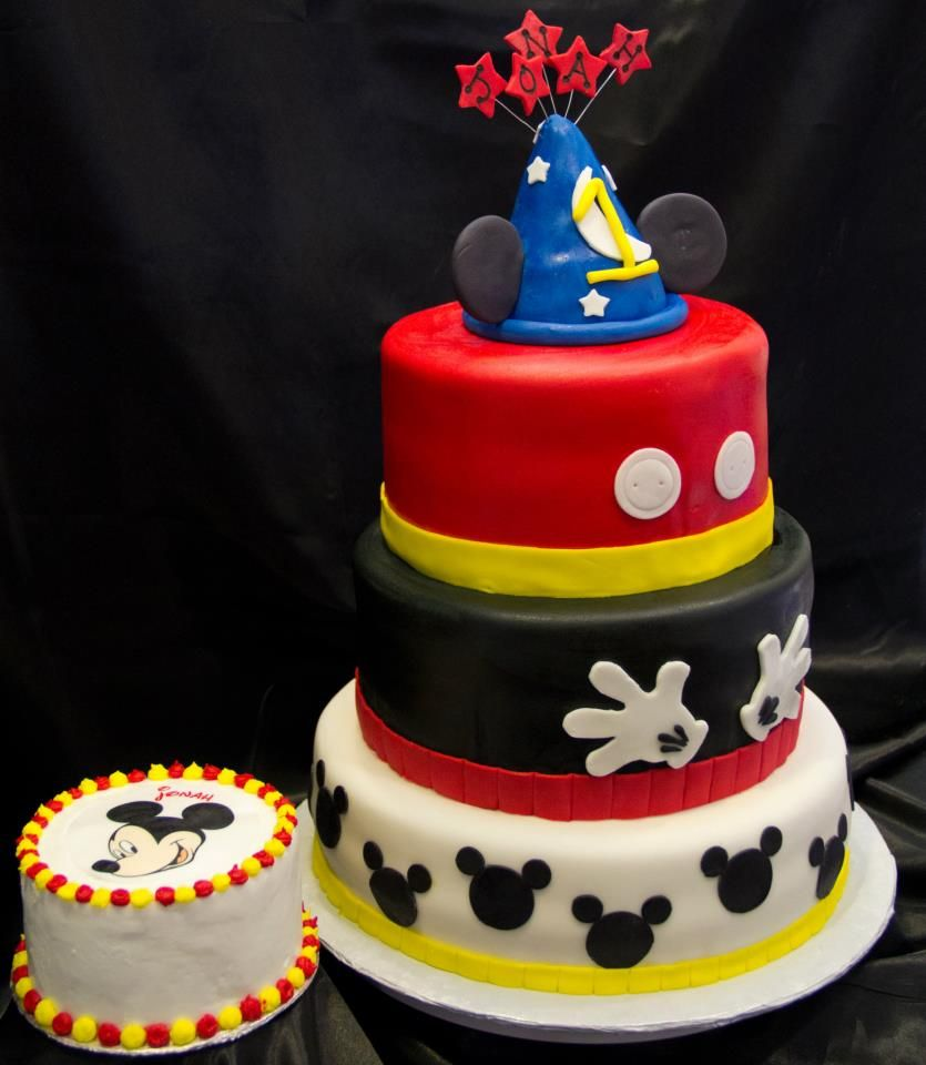 Mickey Mouse Smash Cake: 1st Birthday Mickey Mouse Cake And Smash Cake