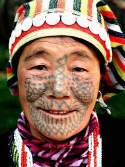 Jiasong was the last of the Derung ethnic group to have her face tattooed. Drung-Nu Autonomous County of Gongshan, southwest China's Yunnan Province.