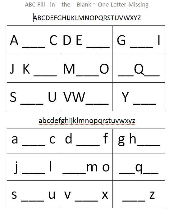 What's Missing?The Mommy Teacher Abc Worksheets, Letter Worksheets  Kindergarten, Alphabet Worksheets Preschool