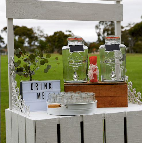 Hire Our Charming Rustic Style Lemonade Stand For Your Outdoor Wedding In Melbourne Http