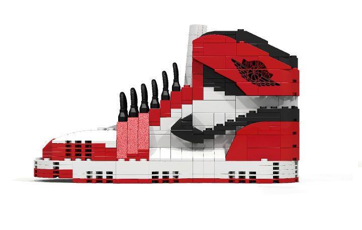 Aritist Tom Yoo Reveals His LEGO Iteration of the Classic Air Jordans #lego trendhunter.com