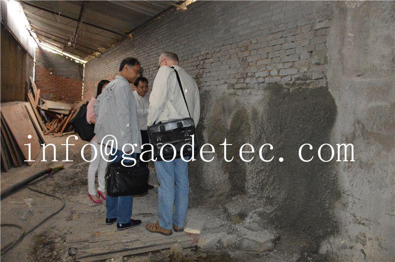spraying concrete machine effect