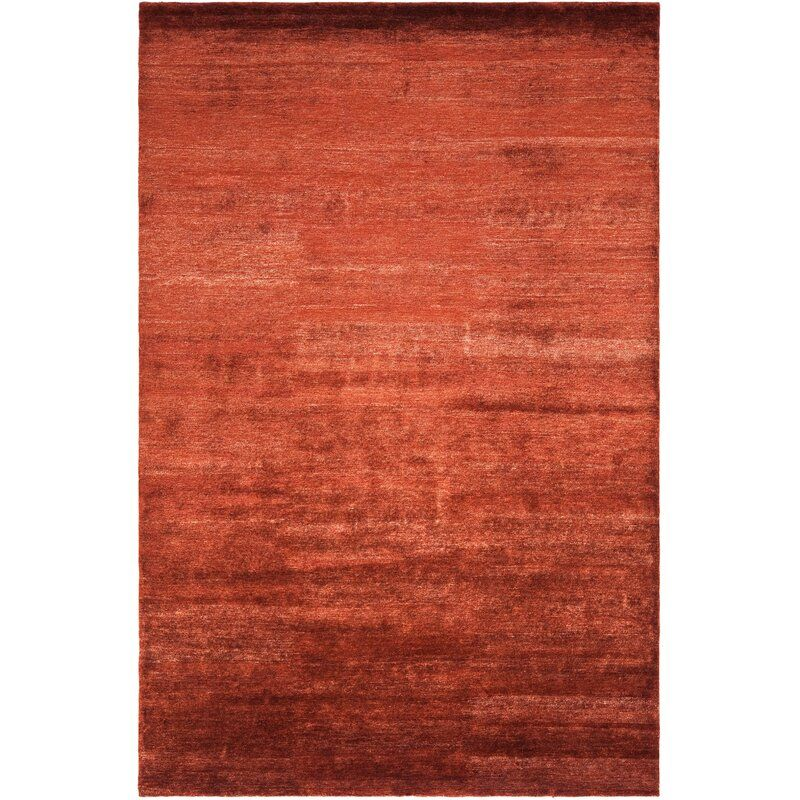 Fairfax Hand Knotted Silk Red Area Rug Red Area Rug Silk Area Rugs 6x9 Area Rugs