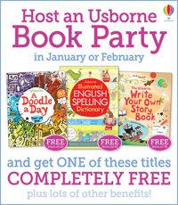 Host an Usborne book party in January