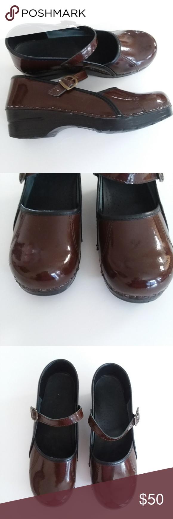 09cc30097aade $30 Sale! Sanita Mary Jane Brown Black Clogs Sanita Mary Jane Clogs ...