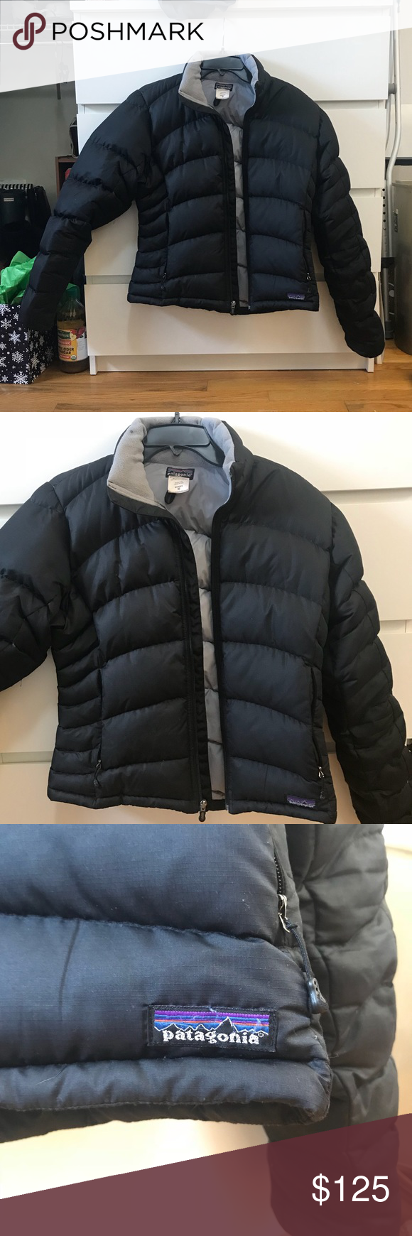 Patagonia Puffer Jacket Black Patagonia Puffer Coat Small Stain Around Collar As Pictured Nothing Wrong With It Other Jackets Patagonia Jacket Puffer Jackets [ 1740 x 580 Pixel ]