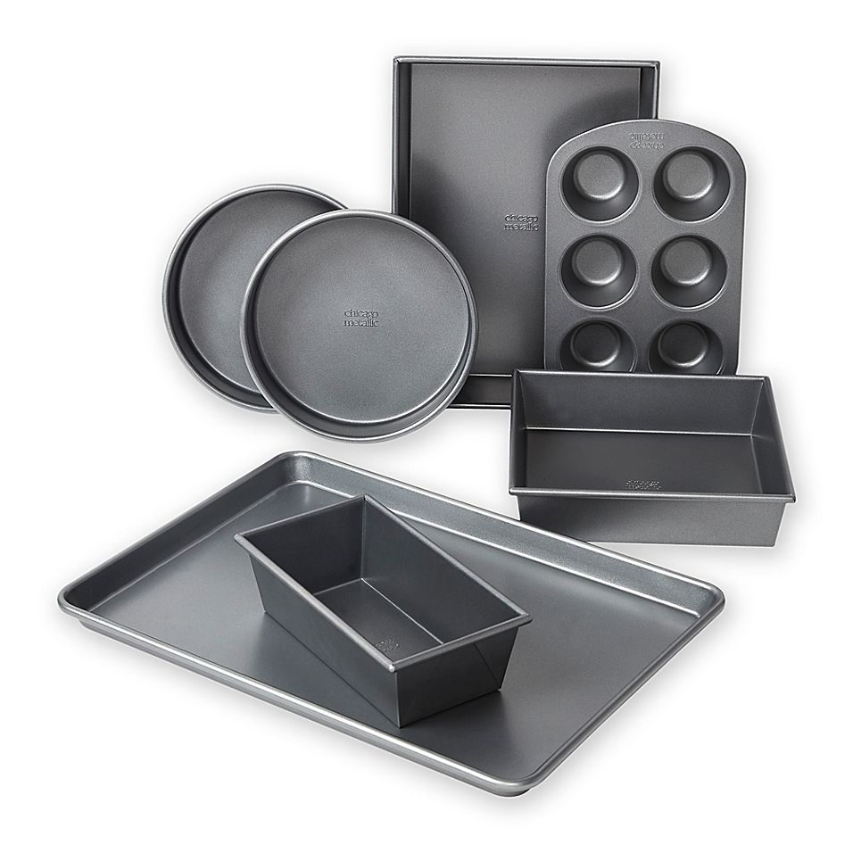 Chicago Metallic Professional 7 Piece Bakeware Set With Armor