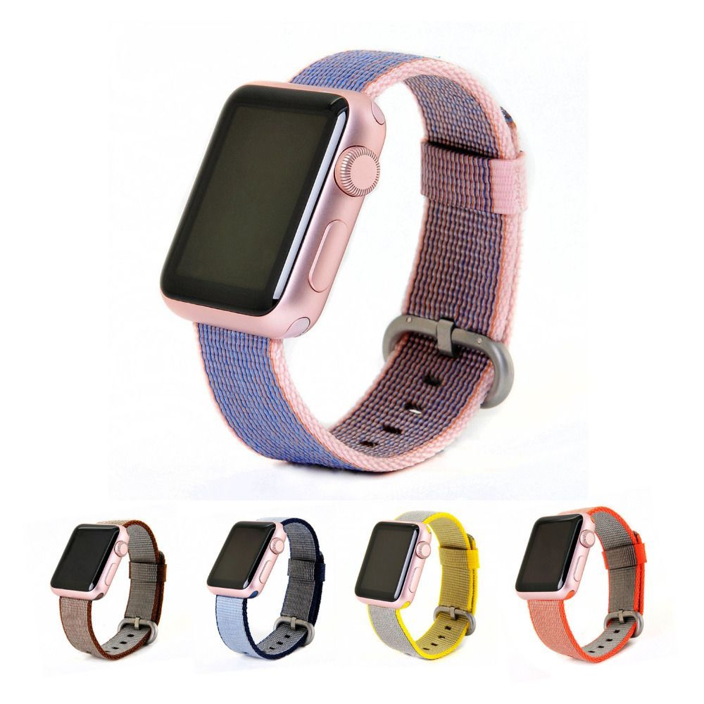 b9c623a82c6 Pas cher Sangle en nylon pour apple watch bande 42mm 38mm sport bracelet  braclet et tissu