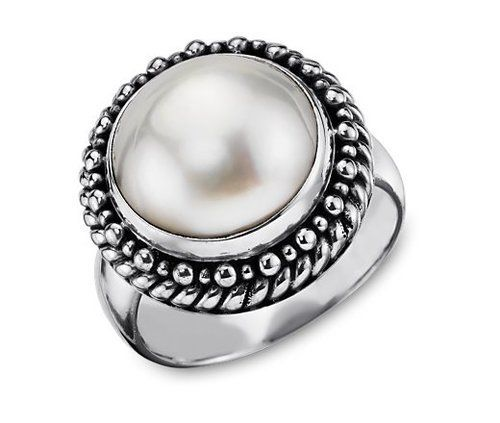 Freshwater Cultured Pearl Ring from Blue Nile's Balinese Collection
