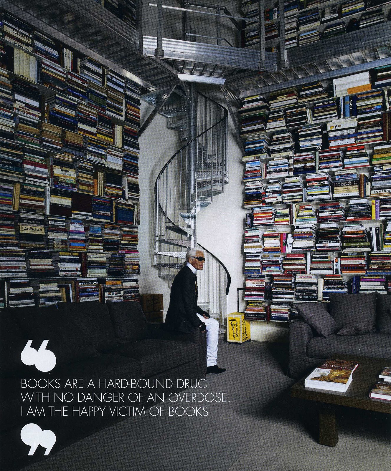 Karl's library. Thanks NHM for passing this on.