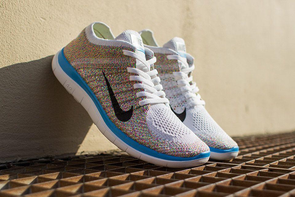 Nike Libre Flyknit Multicolore Blanc