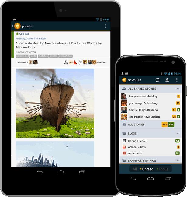 NewsBlur; RSS feed reader #etlobest | Dystopian, Alex ...
