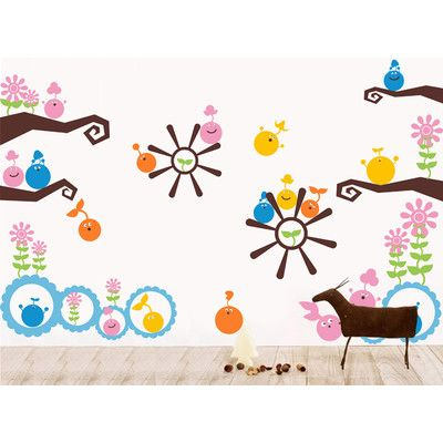 Pop Decors Happy Buddies Wall Decal Color: