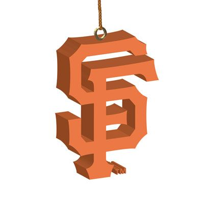 san francisco giants 3d logo ornament christmas pinterest rh pinterest com sf giants logo svg sf giants logo vector