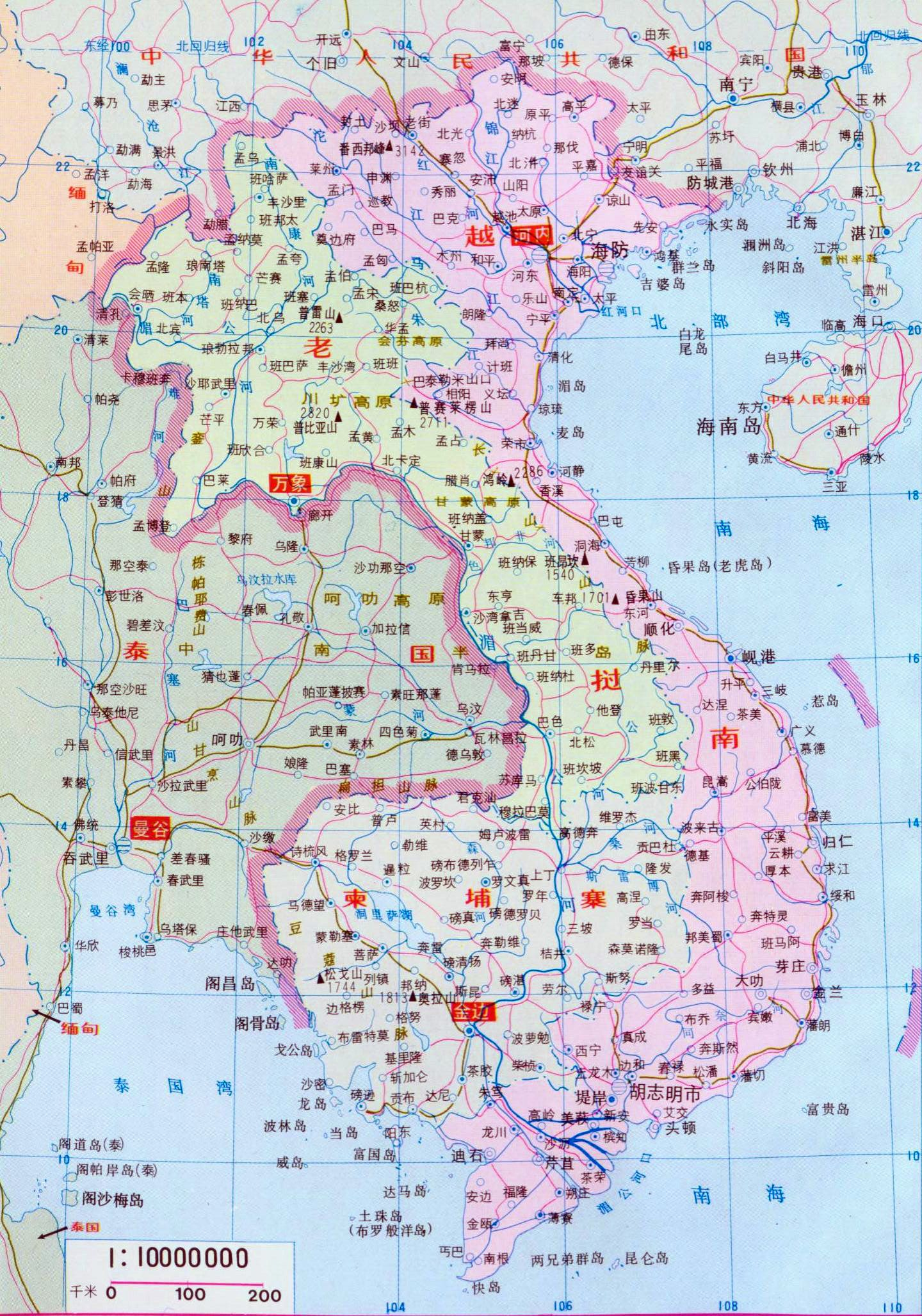 Of vietnam laos and cambodia in chinese map of vietnam laos and cambodia in chinese gumiabroncs Images