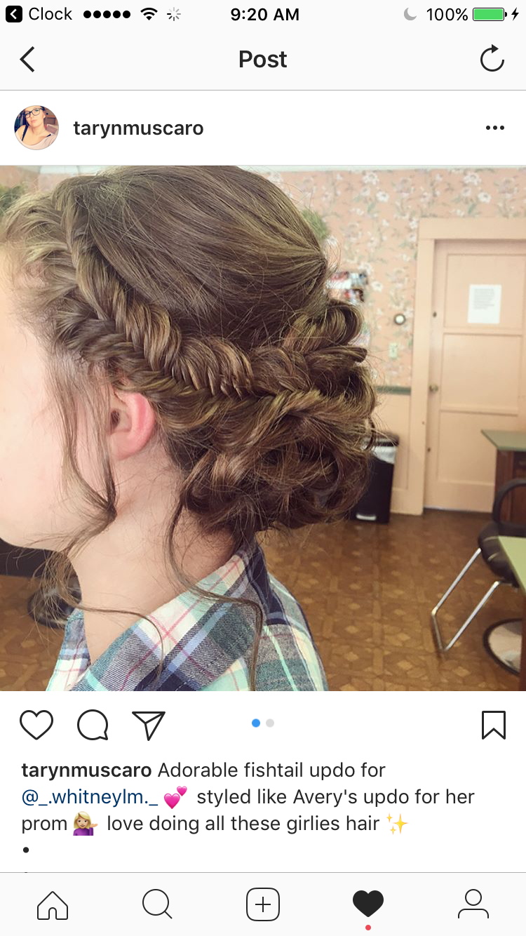 This is my hair i got it done for a formal dance and i loved it