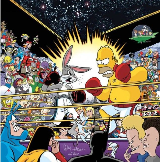 ab2353f6ffc Bugs Bunny VS Homer Simpson! Love all the childhood cartoons ...