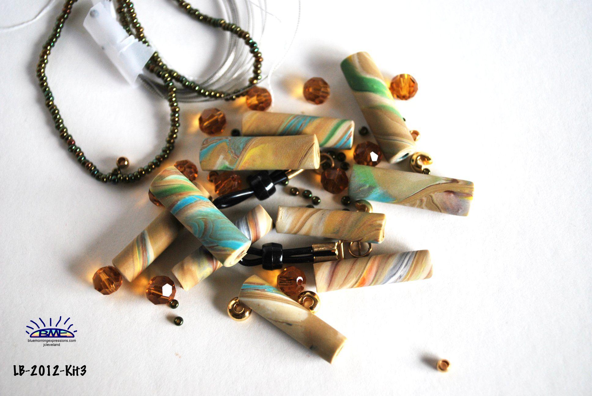 Handmade Polymer Clay #Beads , Polymer Clay, Jewelry Making Supplies, Bead Supplies, Bead Kit