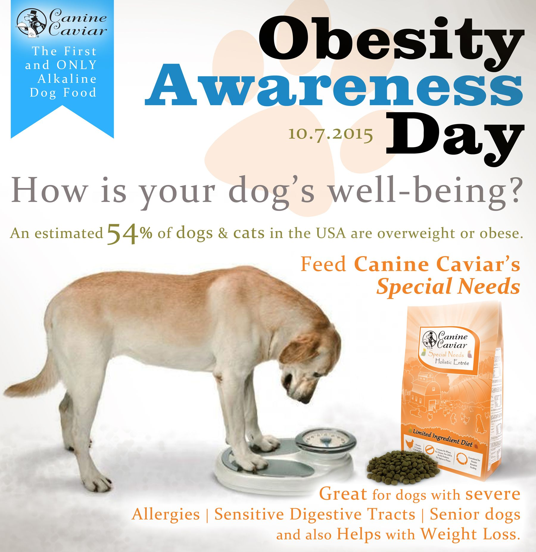 Canine Caviars Special Needs is formulated to help prevent
