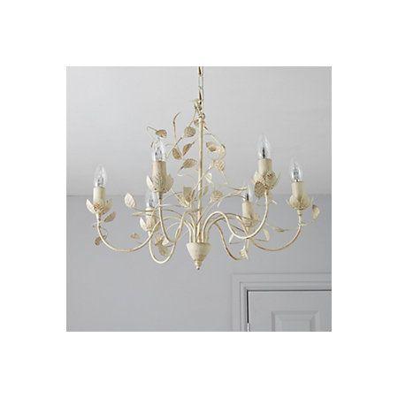 Eva cream 6 lamp pendant ceiling light departments diy at bq