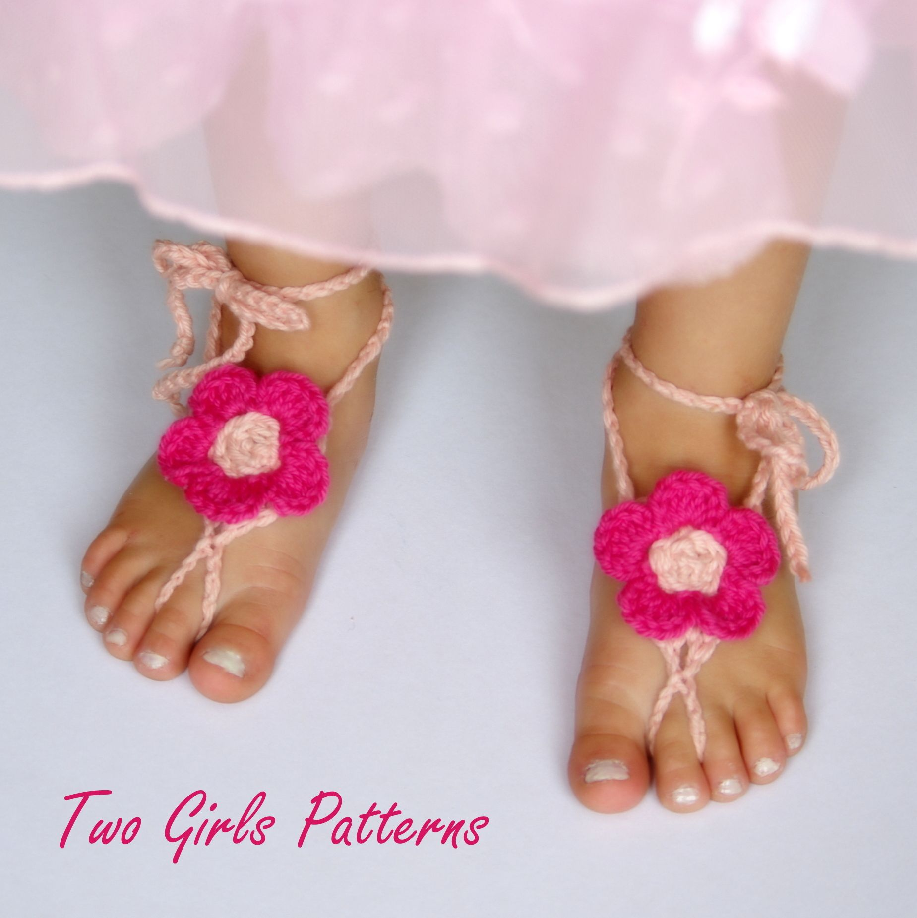 Free Baby Barefoot Sandals Crochet Pattern | All about Hadley ...