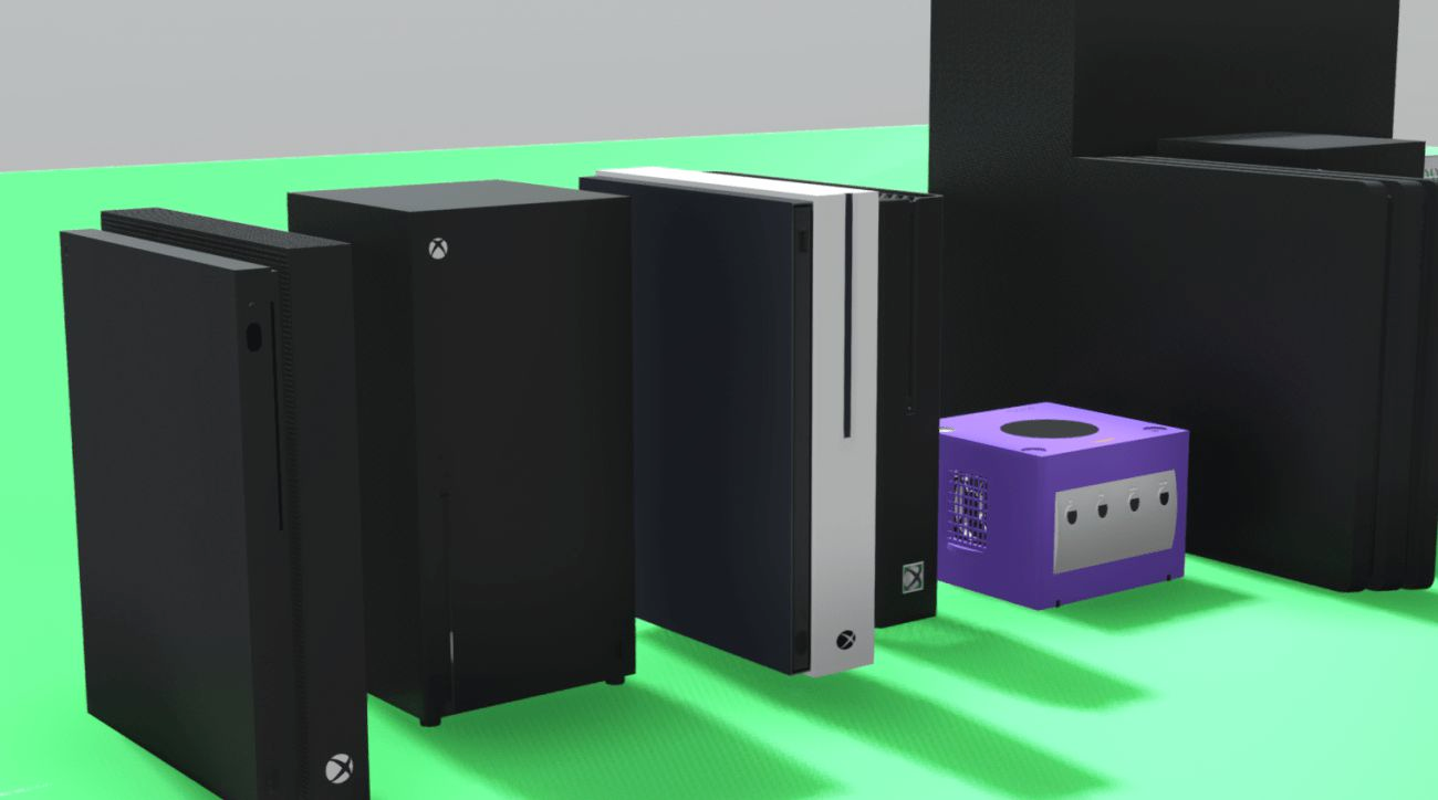 The Size Of The Xbox Series X In Comparison With The Ps4 Pro Gaming Pc Switch And A Banana Ps4 Pro Xbox Gaming Pc