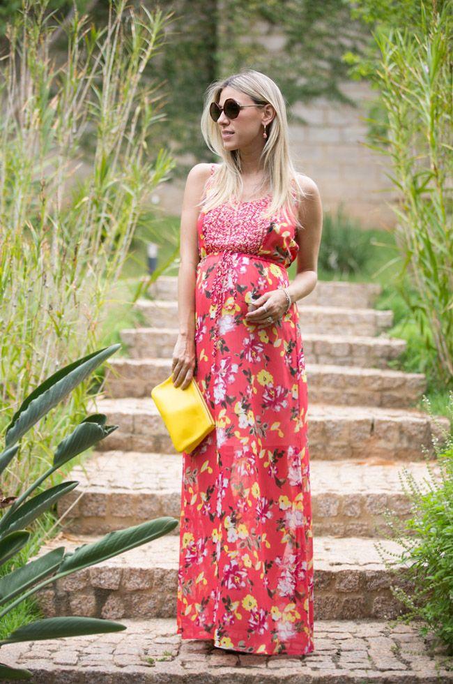 6a07ec2b19be3a floral print   ClothesShoes&Purses   Look para gravidas, Moda ...