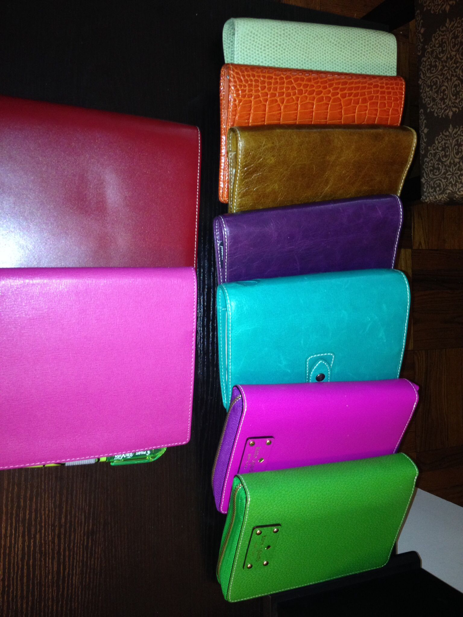 Some of my Filofax and Kate Spade planner binders.