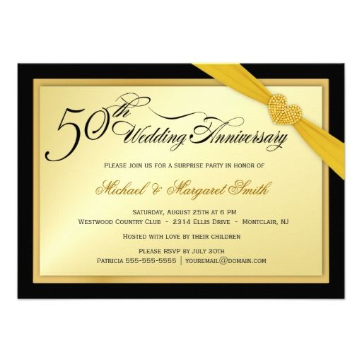 50th Wedding Anniversary Surprise Party Invitation 195