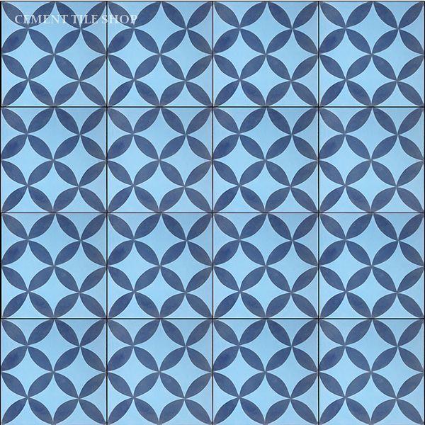Cement Tile Shop - Handmade Cement Tile   Circulos Blue