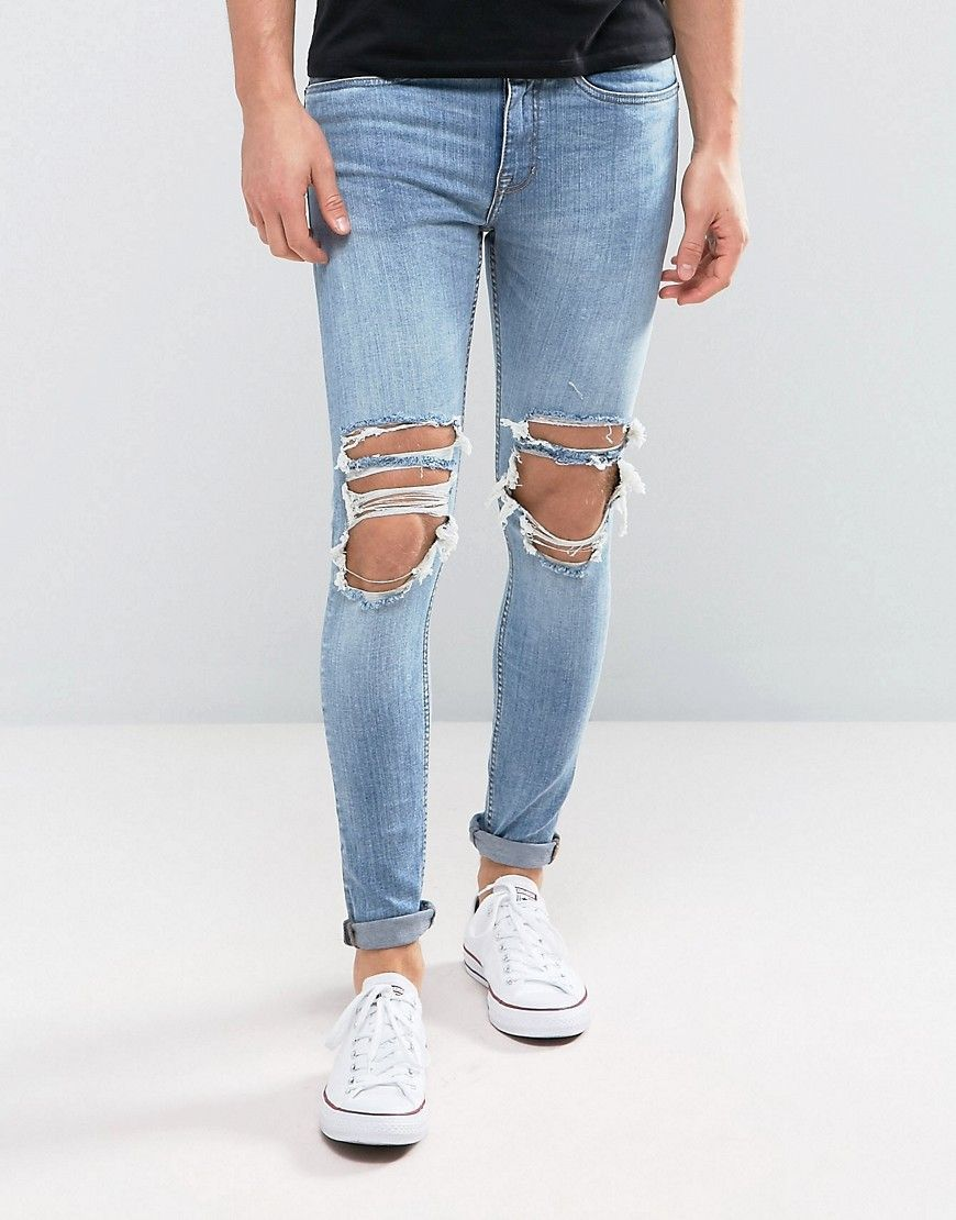 Mens Distressed Skinny Jeans New Look Manchester Great Sale Buy Cheap Store Cheap Sale Find Great Enjoy Find Great Online qTVyo3LpD