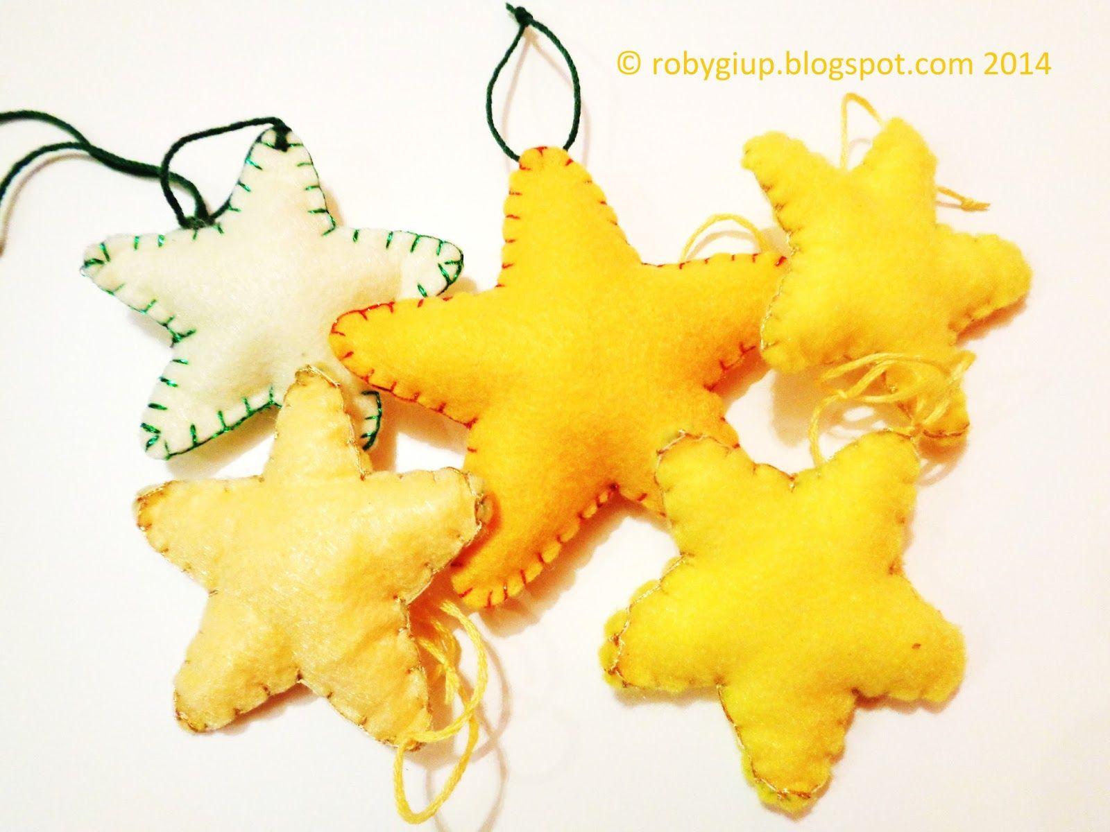 Robygiup handmade stella di feltro imbottita stuffed felt star