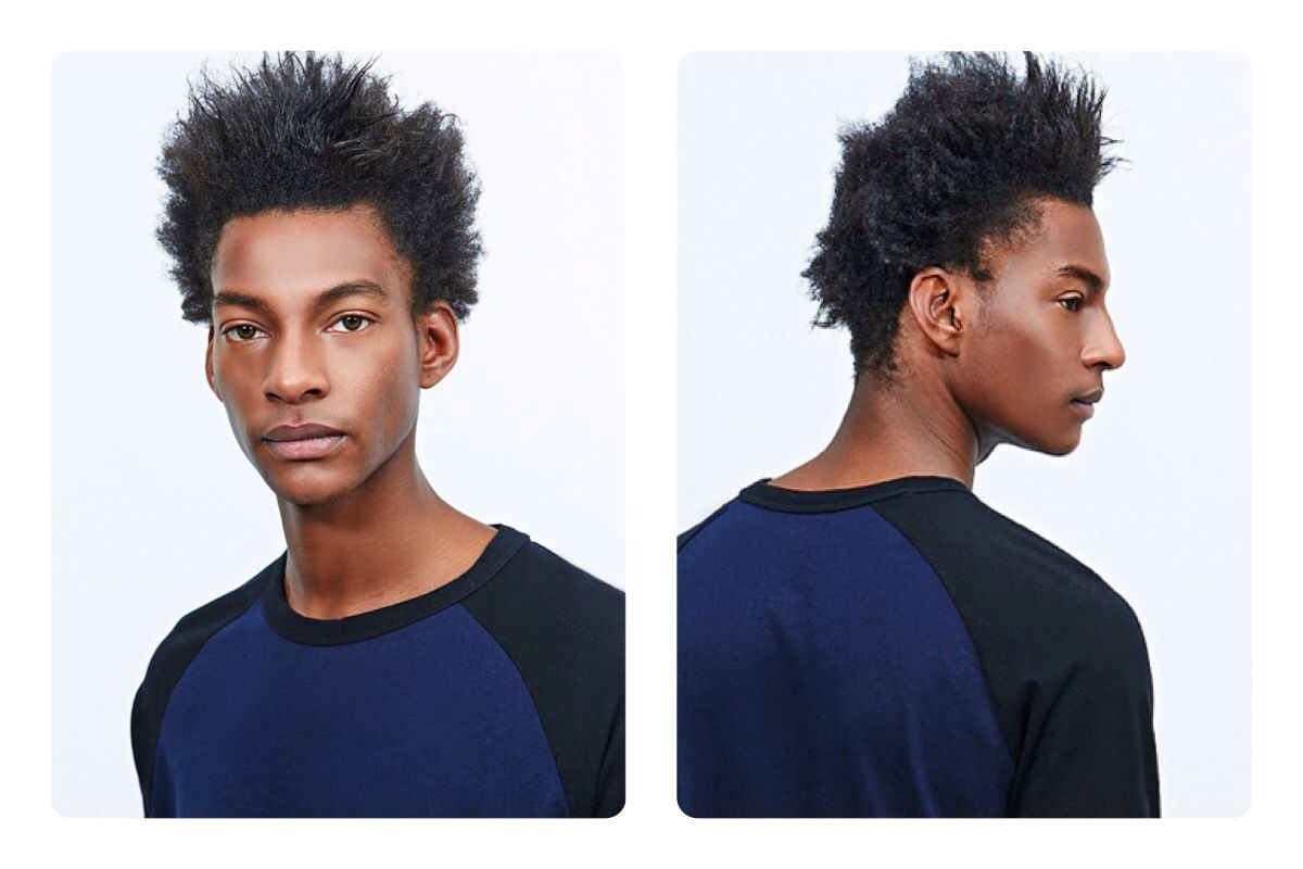 Mens 4C Type Curl Natural Black hair, Hair styles, Curls